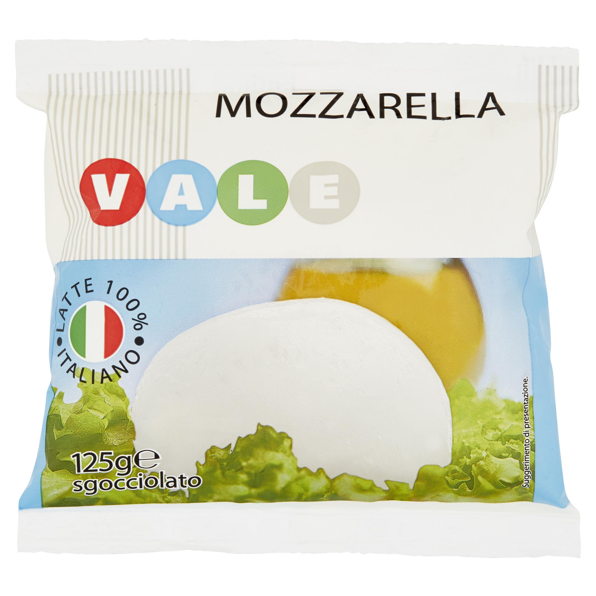 MOZZARELLA BUSTA GR.125  VALE