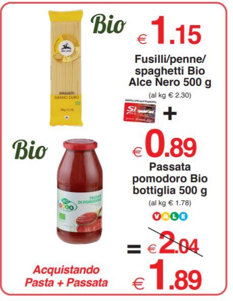 Fusilli/penne/spaghetti Bio Alce Nero 500 g