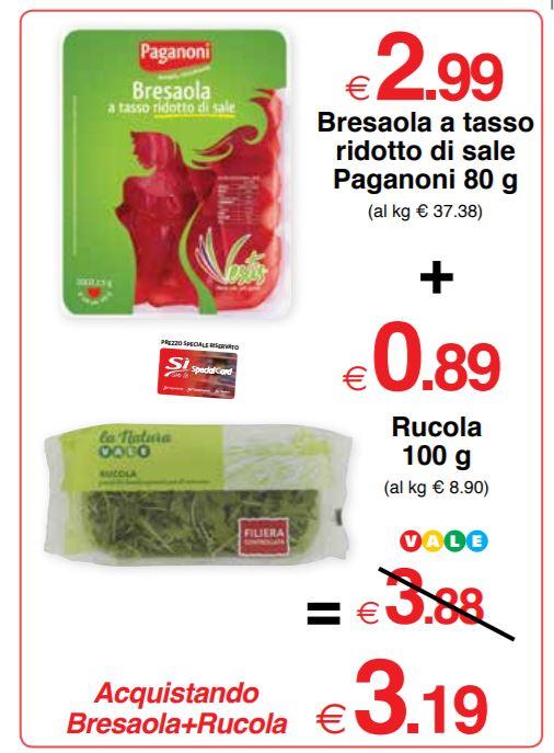 Bresaola a tasso ridotto di sale Paganoni 80 g