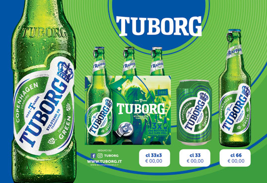 Birra Tuborg lattina 33 cl