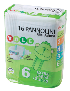 Pannolini Baby pacco base Vale varie misure