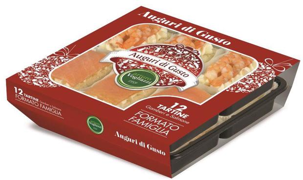 12 tartine gamberi e salmone Vogliazzi 480 g