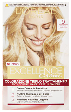 Colorazione capelli Excellence varie nuances