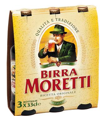 Birra Moretti bottiglie 3 x 33 cl