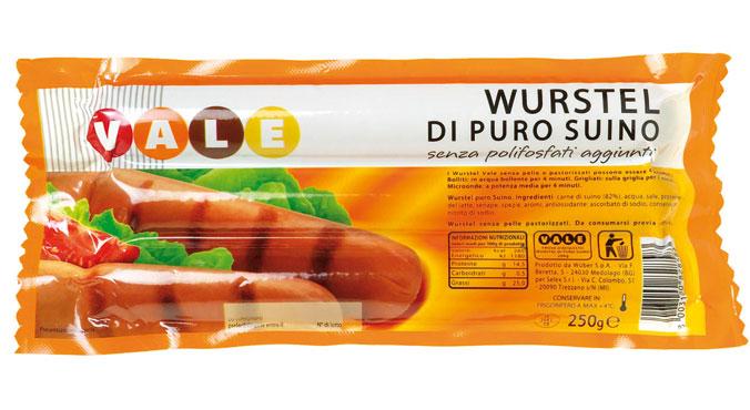 Wurstel suino Vale x 3 pz 250 g