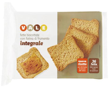 Fette biscottate classiche/integrali/cereali Vale 320 g