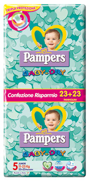 Pannolini Pampers Baby-Dry pacco risparmio varie misure