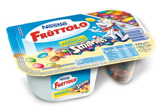 Fru'ttolo & Smarties fragola/vaniglia 120 g
