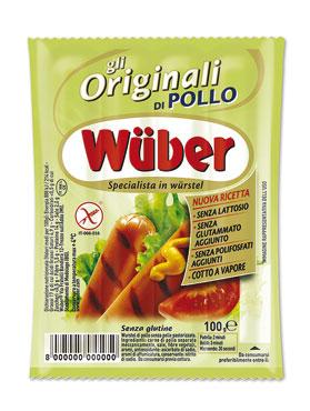 Wurstel di pollo Wuber x 4 pz 100 g