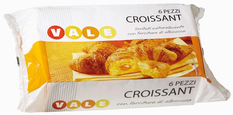Croissant Vale farciti vari tipi x 6 300 g - Croissant Vale zuccherati 240 g