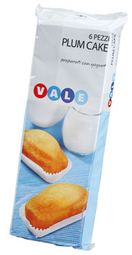 Plumcake allo yogurt/latte Vale 190/252 g