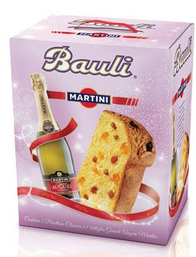 Confezione The Party Pandoro/Panettone Bauli + bottiglia