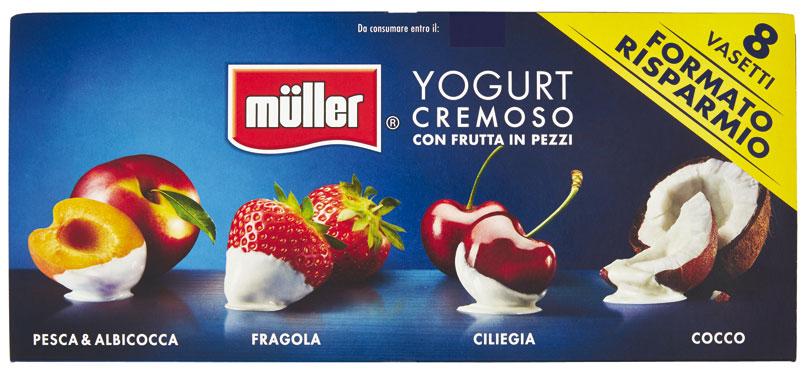 Yogurt omogeneo vari gusti Muller 8 x 125 g