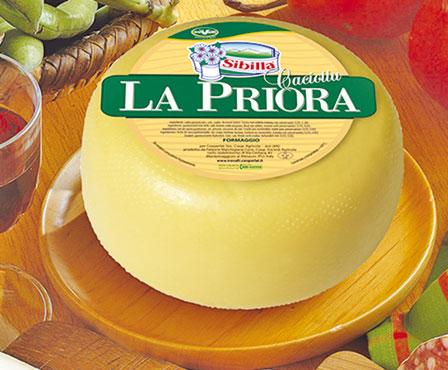 Caciotta di mucca La Priora/canestrata Cigno al kg