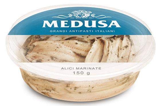Filetti di alici marinate Medusa 150 g