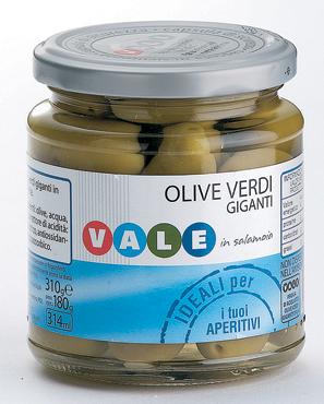 Olive verdi giganti v.v. Vale 310 g