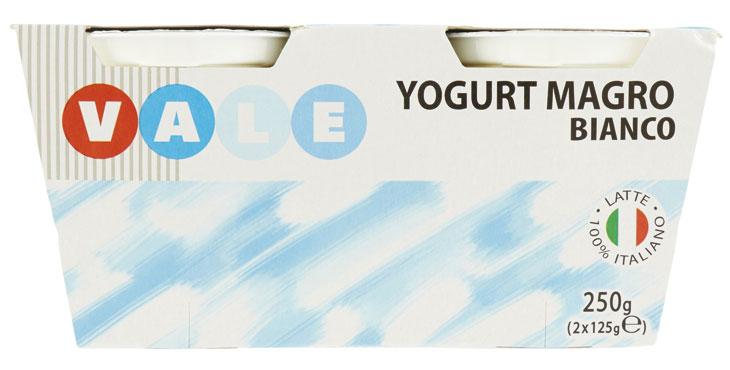 Yogurt magro Vale gusti vari 2 x 125 g