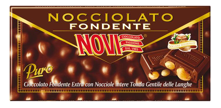 Cioccolato nocciolato Novi vari tipi 130 g
