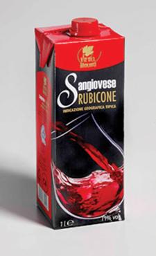 Sangiovese/Trebbiano Rubicone IGT brik 1 l