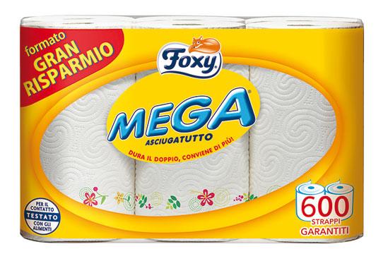 Asciugatutto Foxy Asso Mega Maxi Rotoli X6