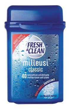 Salviettine umidificate milleusi Fresh & Clean x 40