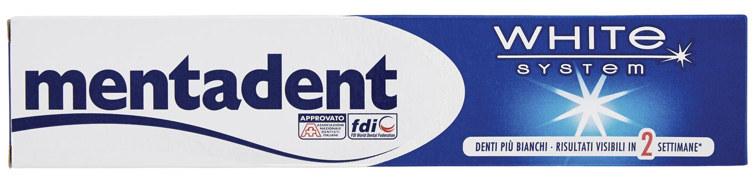 Dentifrici Mentadent vari tipi 75/100 ml