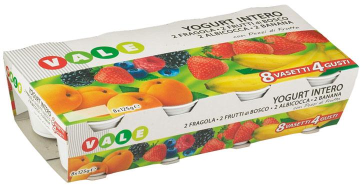 Yogurt Intero Frutta Vale 8 x 125 g