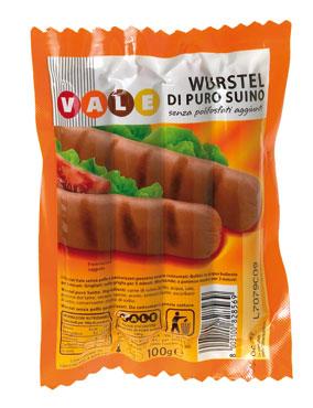 Wurstel suino Vale conf. da 4 pezzi 100 g