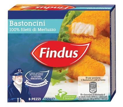 Bastoncini di merluzzo impanati Findus 150 g