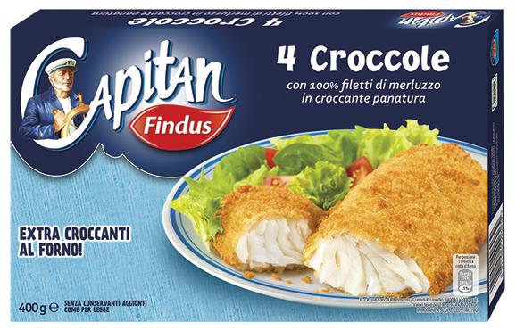 Croccole Findus classiche/spinaci 4 x 400 g