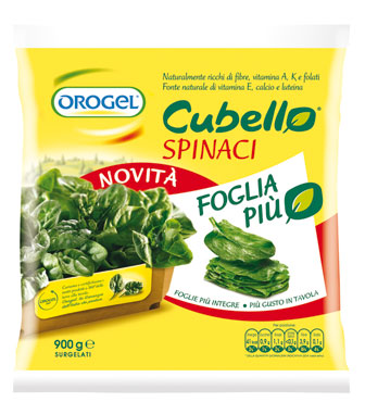 Spinaci Cubello Orogel 900 g