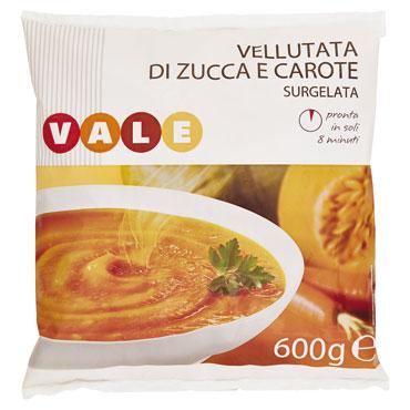 vellutata zucca-carota- verdura vale 600 g