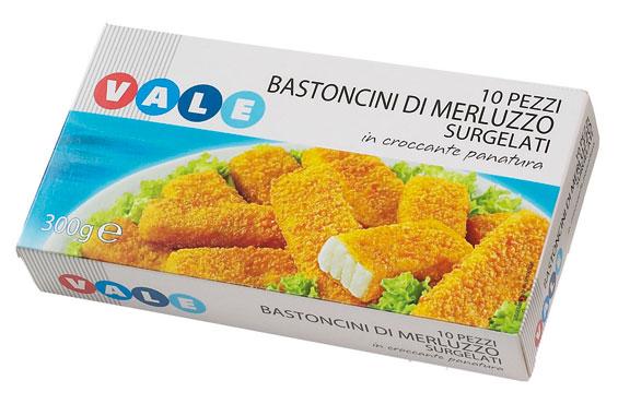 Bastoncini di Merluzzo Impanato Vale 300 g