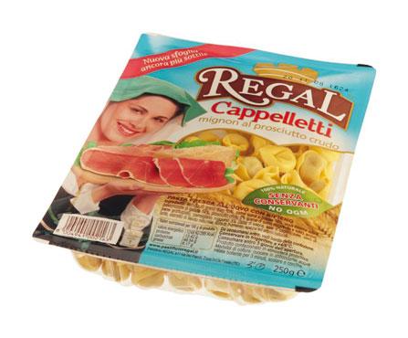 Cappelletti mignon al prosciutto crudo/Ravioli ricotta e spinaci Regal 250 g