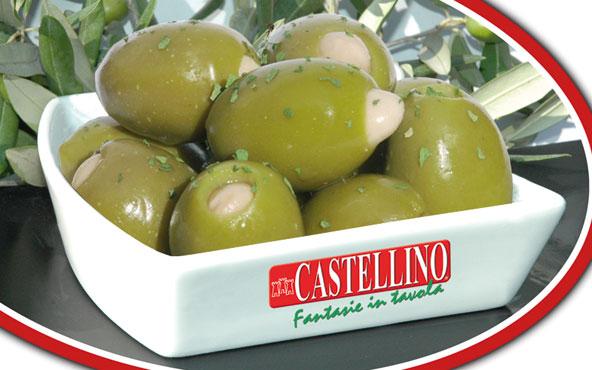 Olive verdi farcite alle mandorle Castellino al kg
