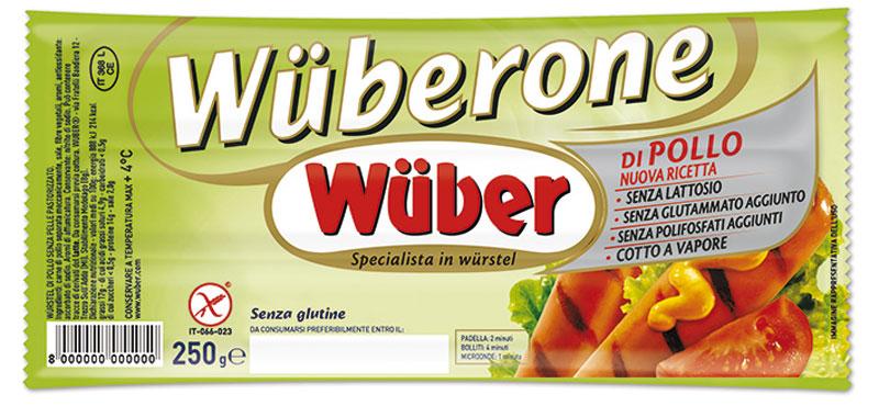 Wurstel Wuberone di pollo confezione da 3 pz 250 g