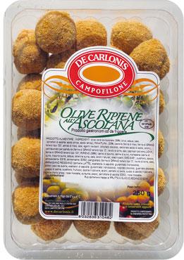Olive precotte De Carlonis 250 g