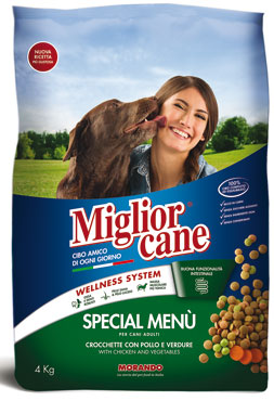 Crocchette cane Migliorcane Active/special menu 4 kg