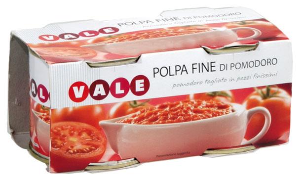 Polpa fine di pomodoro Vale 2 x 230 g