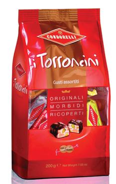 Torroncini Condorelli assortiti/cioccolata/rhum 200 g