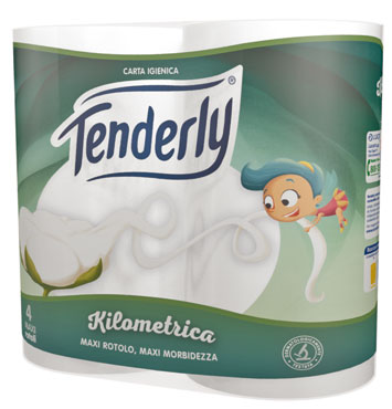 Carta Igienica Tenderly Kilometrica x4 rotoli