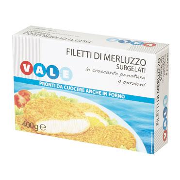 Filetti Merluzzo impanati Vale 400 g