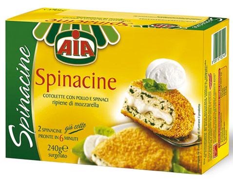 Spinacine con mozzarella Aia 240 g