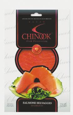 Salmone  selvaggio affumicato Chinook 80 g