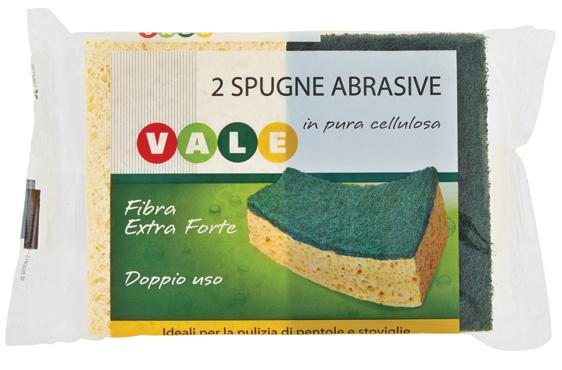 Spugne Abrasive Cellulosa Vale x 2