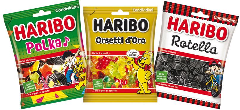 Caramelle Haribo vari tipi 175/180 g