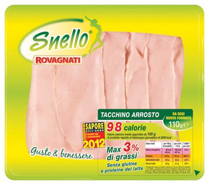 Tacchino arrosto Snello Rovagnati 110 g