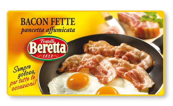Pancetta bacon affettata vaschetta Beretta 100 g