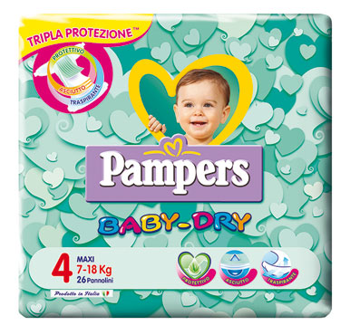 Pannolini Pampers Baby-Dry pacco base varie misure