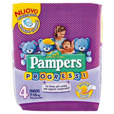 Pampers Progressive varie taglie/Mutandino Junior-Maxi